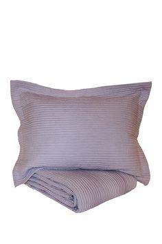 Seersucker Stripe Quilt Set - Lavender on @HauteLook