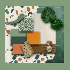 THE CALL OF NATURE - SantamargheritaMAG Interior Design Presentation, Green Interior Design, Mood Board Interior, Urban Design Diagram, Wedding Stage Design, Material Board, Good Color Combinations, Mood And Tone, Living Room Green