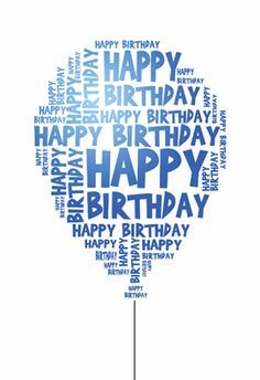 Free Printable Birthday Card - Happy Birthday Balloon | Greetings Island