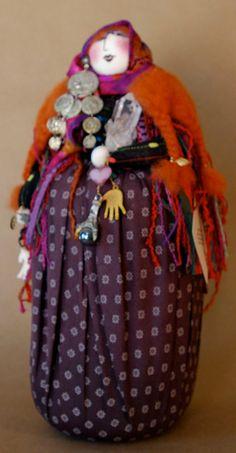 Gypsy Woman Art Doll on Etsy, $40.00