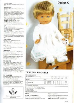 Album Archive - baby doll Knitted Doll Patterns, Knitted Dolls, Baby Knitting Patterns, Crochet Dolls, Baby Patterns, Knitted Baby, Knitting Ideas, Crochet Baby, Knitting Dolls Clothes