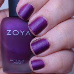 Painted Nubbs: Zoya Matte Velvet 2015 Iris