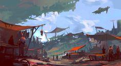 The market section, Victor Hugo Harmatiuk on ArtStation at https://www.artstation.com/artwork/the-market-section