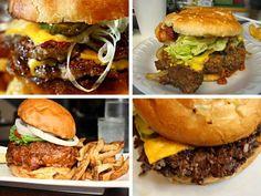 Burgers from One Eared Stag, Ann's Snack Bar, Edgewood Corner Tavern, & The General Muir in Atlanta