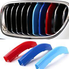 3D Auto Kühlergrill Sport Streifen ABS Aufkleber Aufkleber für BMW E60 F10 F18 5 Serie Auto-styling