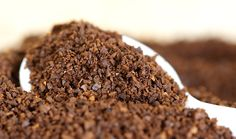 Get rid of cellulite with coffee grounds! Mix ¼ to ½ cup coffee grounds (used ones from your coffeemaker are fine) with approximately 2 Tbsp of extra-virgin olive oil and massage into the affected areas, trying to get as much to stick as possible. Cover the area in plastic wrap and let it sit for 10 minutes before rinsing with warm water.