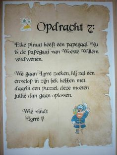 Piratentocht, Opdracht 7. -CE-