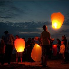 Wish Lanterns are mesmerizing no matter the age.  Incredible at a beach bonfire.  Eco-friendly now too.