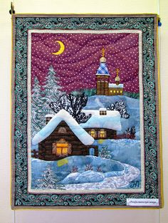 Ideas for creativity noel nol nol bricolage patchwork quilt blocks table runners 42 ideas Patchwork Quilt Patterns, Wool Applique Patterns, Applique Quilts, Small Quilts, Mini Quilts, Landscape Art Quilts, Christmas Applique, Christmas Patchwork, Miniature Quilts