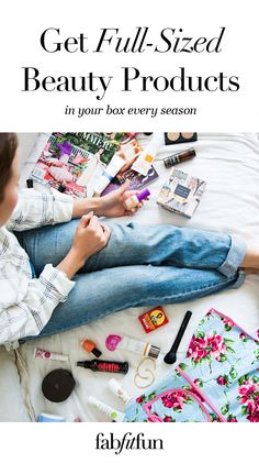 Have you tried the FabFitFun box? It's like a big surprise gift delivered to your doorstep each season. The box is stacked with premium, full-size beauty, fashion, and fitness products. See why we're the #1 full-size box!