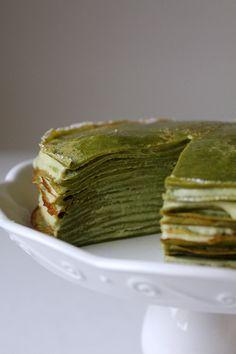 Tea Recipe: Green Tea Crepe Cake by @Oh Sweet Day!