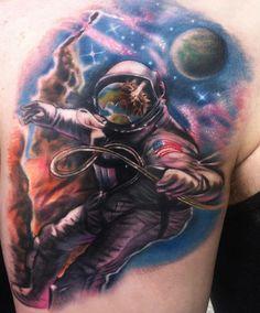 Tattoo astronaut