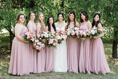 Dresses in Dusty Rose Blush Colored Bridesmaid Dresses, Bridesmaid Dress Styles, Wedding Dresses, Bridesmaids, Wedding Color Schemes, Wedding Colors, Wedding Flowers, Our Wedding, Dream Wedding
