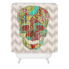 Sharon Turner Flower Skull Shower Curtain | DENY Designs Home Accessories