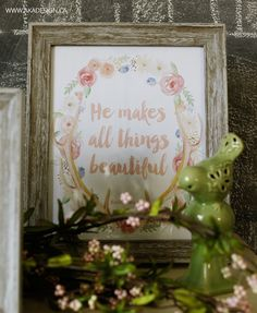 He Makes All Things Beautiful 8x10 framed