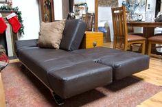 modern leather futon