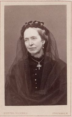 Queen dowager Josephine of Sweden and Norway, neé princess of Leuchtenberg. 1860. Her husband king Oscar I died in 1859.