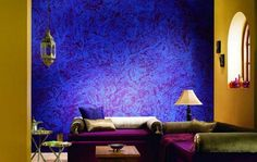 Texture Paint Designs For Living Room India Best Color Walls Cool Stencil Painted Blue Turquoise Wall Home Design Ideas In 2019 15 With Textured