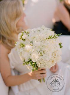 white wedding bouquet