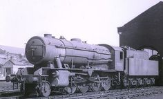 Locomotive  90111 at Grantham Loco in 1963.
