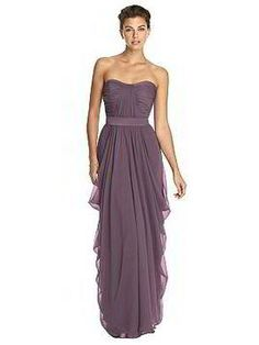 Plum tube top bridesmaid dress - Lela Rose Bridesmaids