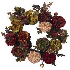 Faux Hydrangea & Peony Wreath