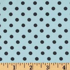 Michael Miller Baby Dumb Dot Sea - Discount Designer Fabric - Fabric.com