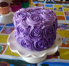 purple smash cake