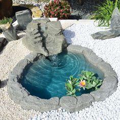 Backyard Trees, Ponds Backyard, Landscaping With Fountains, Fish Pond Gardens, Garden Pond Design, Mini Pond, Outdoor Ponds, Stone Fountains, Japan Garden