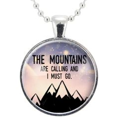 Mountain Necklace, John Muir Inspirational Nature Quotes Jewelry,... ($15) ❤ liked on Polyvore featuring jewelry, necklaces, pendant jewelry and pendant necklace