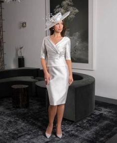 Veni Infantino Mother of the Bride Dresses from Vanity Fair. Glamour and style mixed with high quality fabrics make these dresses a very popular choice. Bride Dresses, Formal Dresses, Vanity Fair, Jacket Dress, Mother Of The Bride, Dresses For Work, Glamour, Boutique, Fabric