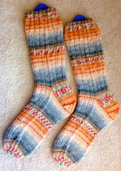 Hand Knit Mens or Womens Wool Socks - Opal Sock Yarn (S-113)