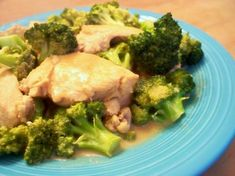 Broccoli Chicken Dijon (south Beach Diet) from Food.com:   								This recipe comes from krafthealthyliving.com.  I haven't tried it yet, but it looks wonderful!  As soon as I get a chance to make this dish, I'll let you all know how it is.