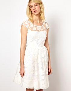 Orla Kiely Cloud Organza Dress in White