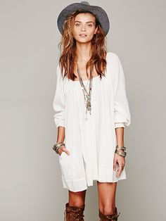 Free People Pop Stitch Swing Tunic, $0.00
