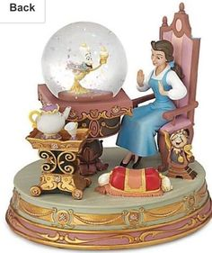 Disney Store Beauty and the Beast Belle Snow Globe