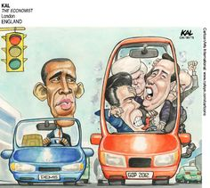 Cartoonists around the world are stunned by the Republican primary circus.