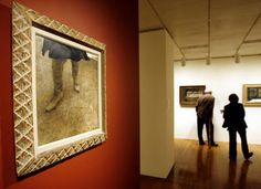 Andrew Wyeth's painting 'Trodden Weed', 1951 is displayed at the Philadelphia Museum of Art as shown in this 2006 file photo. Andrew Wyeth Paintings, Philadelphia Museum Of Art, Dog Paintings, Dry Brushing, Museum Of Modern Art, Display, Abstract, Gallery, Frame