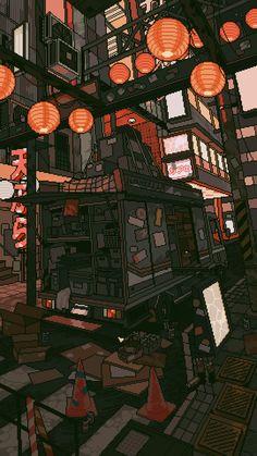 New Pixel Art Wallpaper Cyberpunk Ideas Scenery Wallpaper, Aesthetic Pastel Wallpaper, Aesthetic Wallpapers, Wallpaper Art, Live Wallpaper Iphone, Kawaii Wallpaper, Animes Wallpapers, Live Wallpapers, Anime Kunst