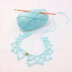 DIY crochet collar | www.metdehand.nl/blog #molliemakes #crochet #DIY