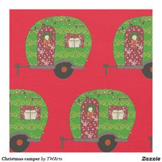 Christmas camper fabric