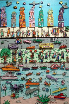 WONDERFUL James Rizzi Gallery with HIGH QUALITY pics <3 thank you internet.