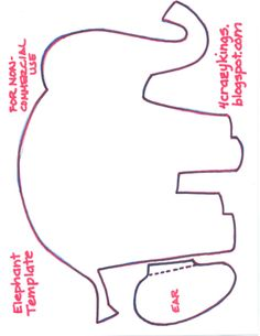 elephant template for cake Google Search