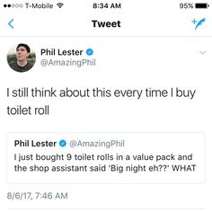 I don't know about you but a value pack sure does mean one big night with one big burrito, ya feel? Daniel James Howell, Dan Howell, Danisnotonfire, Amazingphil, A Funny, Hilarious, Dan And Phill, Phil 3, Phil Lester