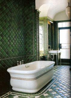 love the dark green!  Jed Johnson Interior Design