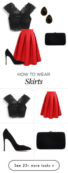 """""""Vintage Skirt"""" by momo-free on Polyvore featuring Sergio Rossi, Gianvito Rossi, Natasha Accessories, vintage, women's clothing, women, female, woman, misses and juniors"""