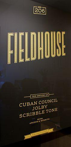 fieldhouse logo type