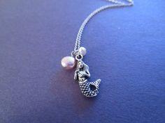 Silver Mermaid, Natural Pearl, The little mermaid, Ariel, Necklace | simplecrystal - Jewelry on ArtFire