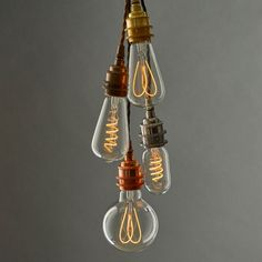 Well-lit's Beautiful New Range Of Exposed LED Filament Bulbs Using New Flexible LED Technology To Create The Intricate F... - #61569 - NOTCOT.ORG