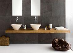 Bathroom, Neutra's Sleek Stylish Bathrooms Two Mirrors Design Inspiration: Amusing, Organic  Stylish Bathroom With Enjoyment